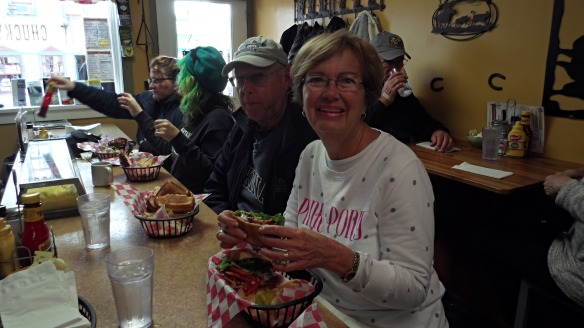 Lunch on our last day on the island at the Chuckwagon! Have a great winter, Donnie and Sharon!