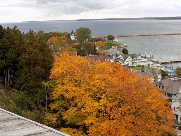 The east end of town from Fort Mackinac this afternoon. (Photo: Tom Chambers)