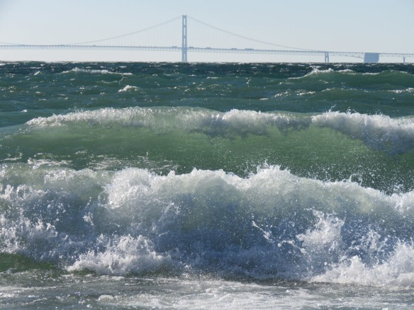 A typical fall wind storm hit the island on Thursday. It always amazes me the size of the waves generated on the Great Lakes. Clark remembers that these waves were nothing compared to those on November 10, 1975, the day the Edmund Fitzgerald went down.