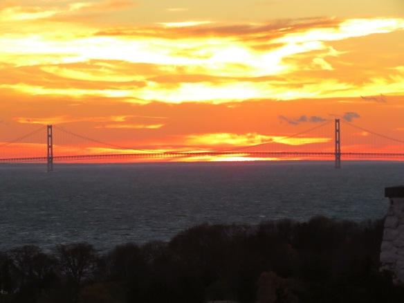 Sunset on Saturday evening.