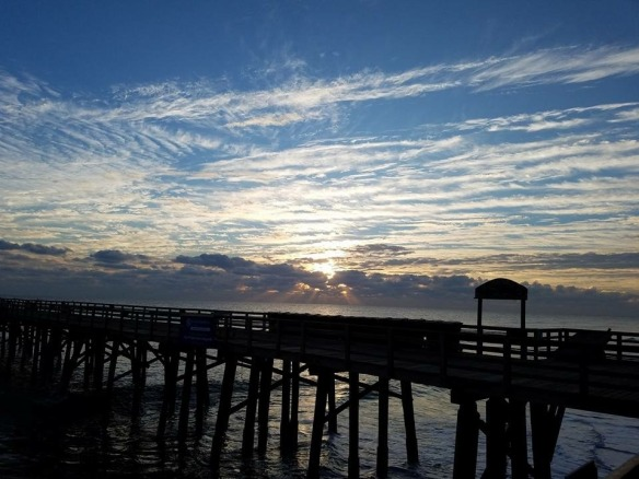 An awesome sunrise over our Flagler Beach pier by friend Linda Brendlinger.